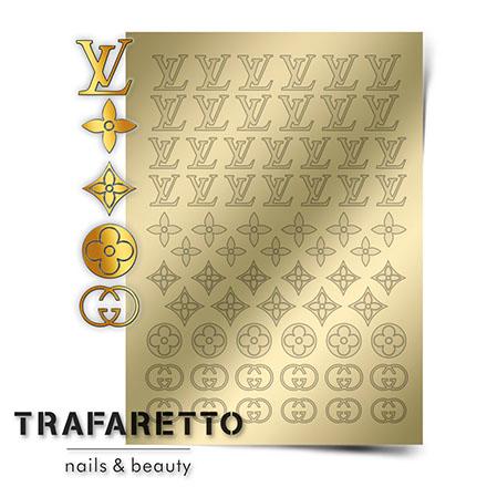 Купить Trafaretto, Металлизированные наклейки Fsh-02, золото