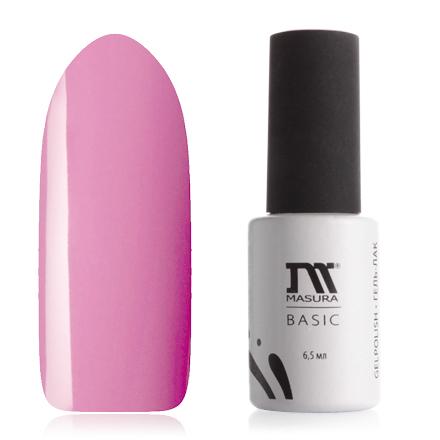 Masura, Гель-лак Basic №294-79, Кино или мороженое?Masura трехфазный шеллак<br>Гель-лак (6,5 мл) розовый, с микроблестками, плотный.<br><br>Цвет: Розовый<br>Объем мл: 6.50