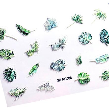 Купить AnnaTkacheva, 3D-стикерCL№008 «Листья. Монстера», Anna Tkacheva