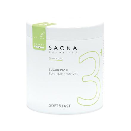 Saona Cosmetics, Сахарная паста для депиляции Soft/Fast, мягкая, 1000 г