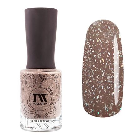 Купить Masura, Лак для ногтей «Золотая коллекция», Миндальное безе, 11 мл, Коричневый