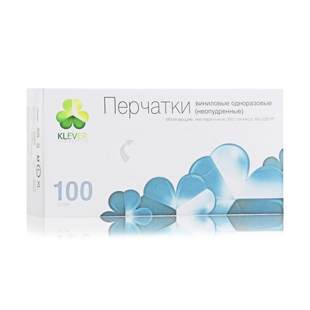 Igrobeauty Klever, Перчатки виниловые черные, S