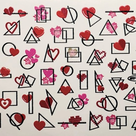 Anna Tkacheva, Слайдер NY №68 «Геометрия. Сердца» фото