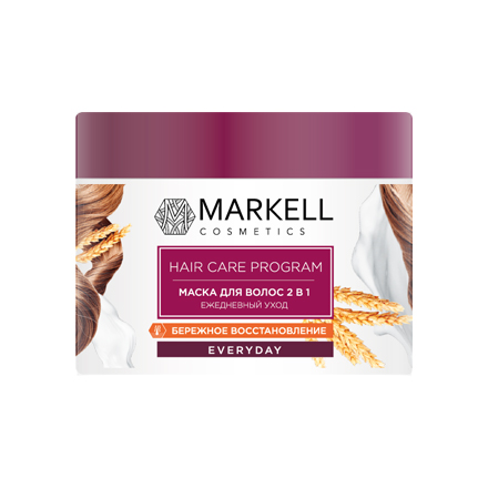 Markell, Маска для волос 2 в 1 «Everyday», Ежедневный уход, 290 г