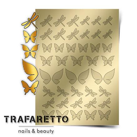 Купить Trafaretto, Металлизированные наклейки BF-01, золото