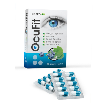 Dobrovit, Комплекс для глаз DobroVit OcuFit, 20х500 мг фото