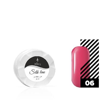 Купить POLE, Гель-краска Silk line №06, малиновая, Розовый