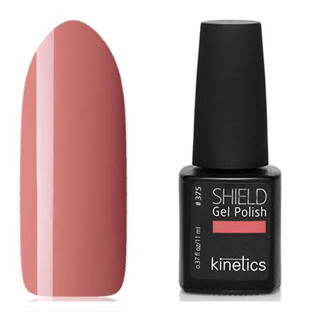 Kinetics, Гель-лак Shield №375, Body languageKinetics<br>Гель-лак (11 мл) красно-бежевый, без перламутра и блесток, плотный.