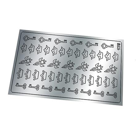 Купить Freedecor, Металлизированные наклейки №175, серебро