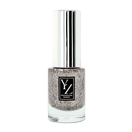 Yllozure, Лак для ногтей Glamour Las Vegas №54 серебрянного цвета