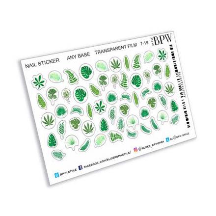 Купить BPW.style, Наклейки «Тропические листья» №ns7-19