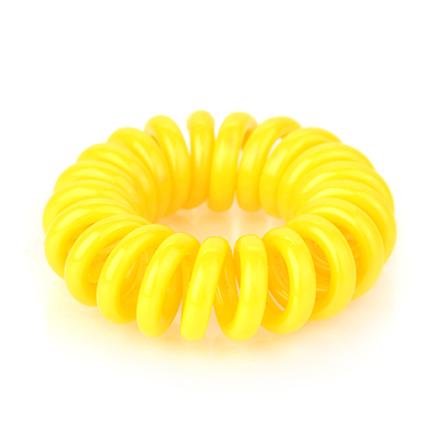 Резинка для волос силиконовая, желтая