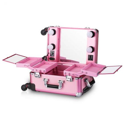 Купить OKIRO, Мобильная студия визажиста LC006, без ножек, розовая