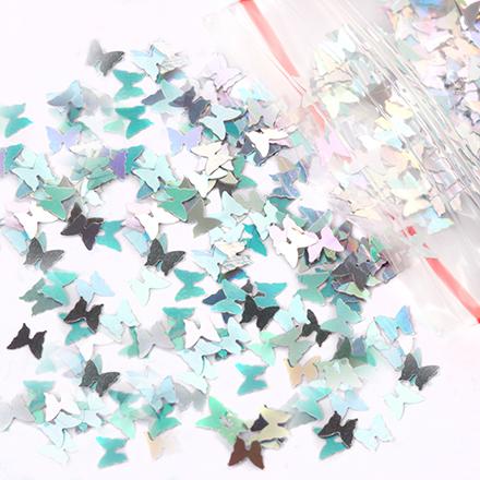 KrasotkaPro, Камифубуки бабочка (серебро)Камифубуки<br>Камифубуки для дизайна ногтей.<br>