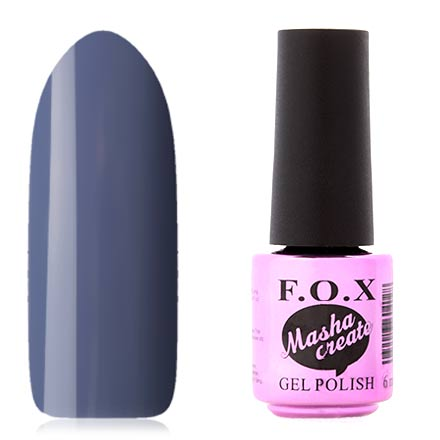 FOX, Гель-лак Masha Create Pigment №084F.O.X<br>Гель-лак (6 мл) светлый сине-фиолетовый, без перламутра и блесток, плотный.<br><br>Цвет: Фиолетовый<br>Объем мл: 6.00