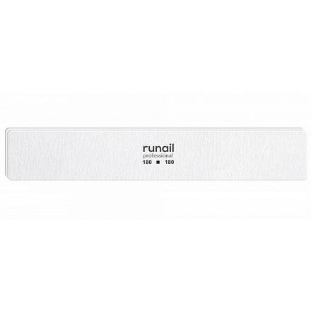 Купить RuNail, Пилка для искусственных ногтей, белая, прямая, 180/180