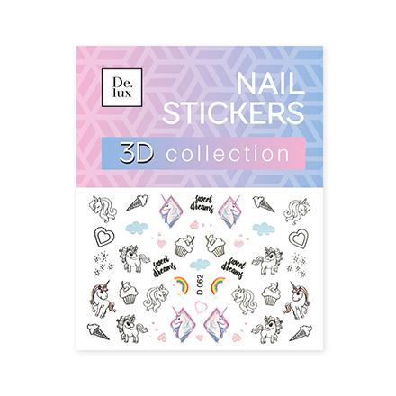De.Lux, 3D-слайдер «Единороги» D062Слайдер-дизайн<br>3D-слайдер для создания дизайна на ногтях.