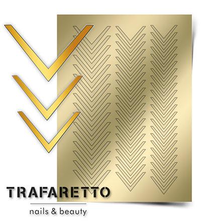 Купить Trafaretto, Металлизированные наклейки CL-03, золото