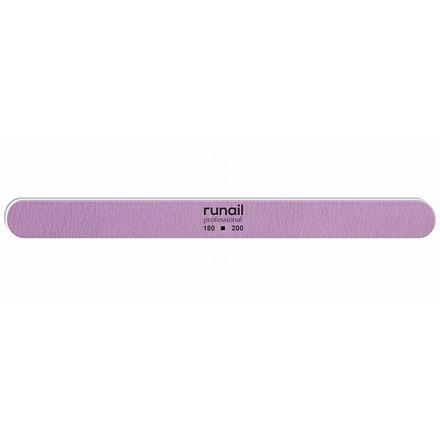 Купить RuNail, Пилка для искусственных ногтей, сиреневая, закругленная, 180/200
