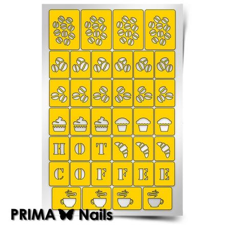 Prima Nails, Трафареты «Кофейня»