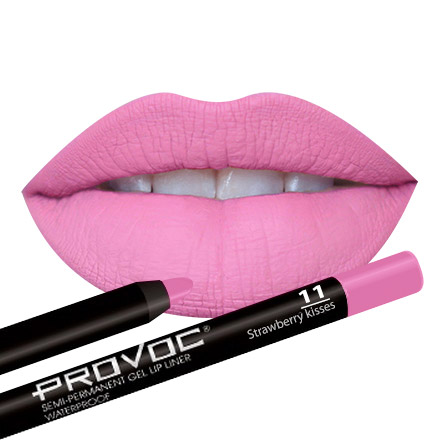 Provoc, Gel Lip Liner 11 Strawberry Kisses, цвет светлая фуксия