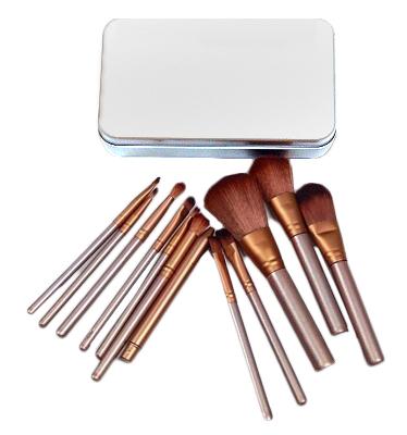 TNL, Набор кистей для макияжа в металлической упаковке (TNL Professional)