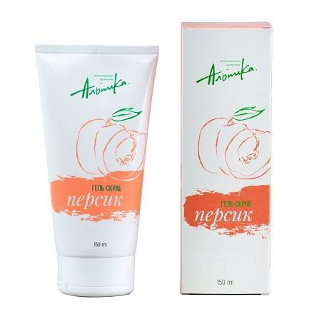 Альпика, Гель-скраб «Персик», 150 мл chi luxury black seed oil curl defining cream gel