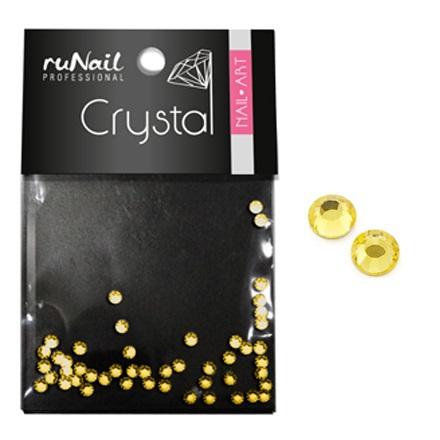 ruNail, Стразы для ногтей, золотые, 1,5 мм