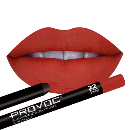 Provoc, Gel Lip Liner 22 Sinful, Цвет алый