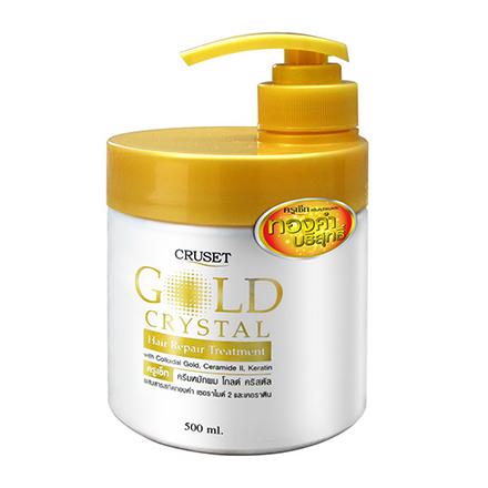 Cruset, Маска Gold сrystal, восстанавливающая, 500 млМаски для волос <br>Восстанавливающий уход за волосами с кристаллами коллоидного золота, керамидом II и кератином. Для всех типов волос.