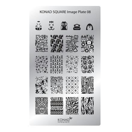 Konad, Пластина для стемпинга Square Image Plate № 08