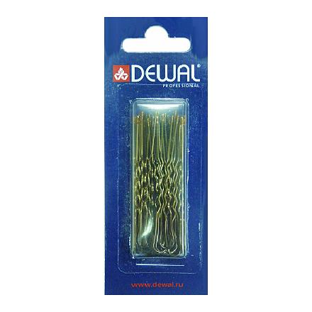 Купить Dewal, Шпильки мягкие «Волна», коричневые, 60 мм, 24 шт.