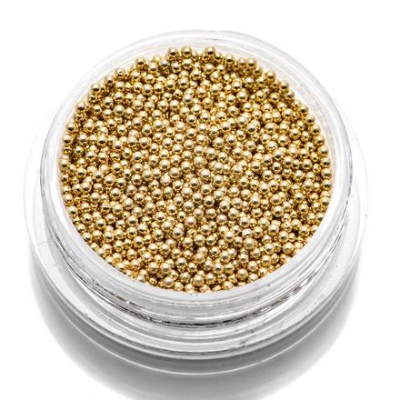 TNL, Бульонки металлические 1 мм (золото)