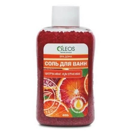 Купить OLEOS, Морская соль для ванн «Цитрусовое настроение», 400 г