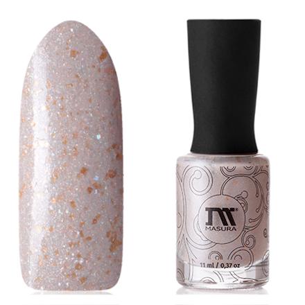 Купить Masura, Лак для ногтей «Золотая коллекция», Шепот песков, 11 мл, Коричневый