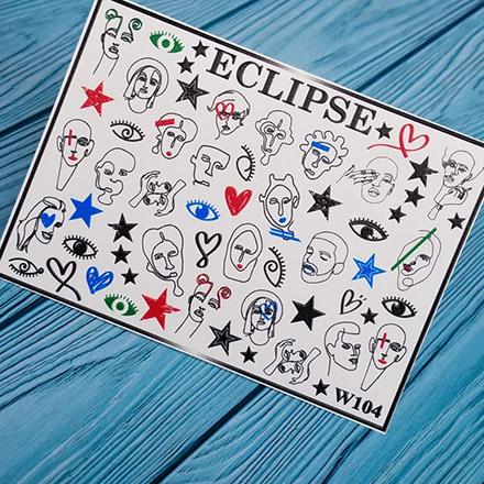 Купить Eclipse, Слайдер-дизайн для ногтей W №104