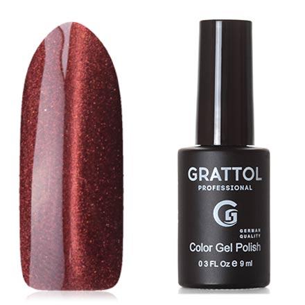 Grattol, Гель-лак Crystal №006, СopperGrattol<br>Магнитный гель-лак (9 мл) золотисто-коричневый, с медными микроблестками, полупрозрачный.<br><br>Цвет: Коричневый<br>Объем мл: 9.00