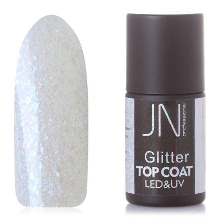 Фото - JessNail, Топ без липкого слоя Glitter №03, 10 мл jessnail пылесос для маникюра jn 001 белый