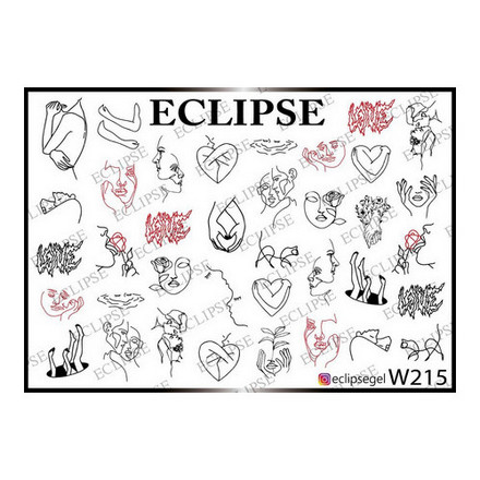 Купить Eclipse, Слайдер-дизайн для ногтей W №215