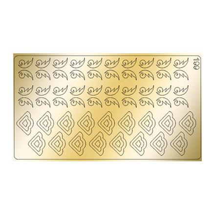 Купить Freedecor, Металлизированные наклейки №199, золото