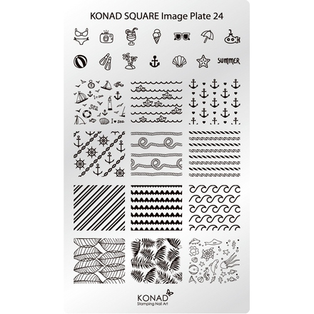 все цены на Konad, Пластина для стемпинга Square Image Plate 24 онлайн