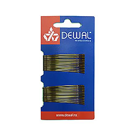 Купить Dewal, Невидимки прямые, коричневые, 50 мм, 24 шт.