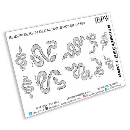 Купить BPW.style, Слайдер-дизайн «Черные змейки» №sd1-1559