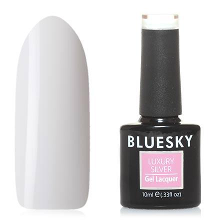 Bluesky, Гель-лак Luxury Silver №003Bluesky Шеллак<br>Гель-лак (10 мл) белый, без перламутра и блесток, плотный. Очень густой.