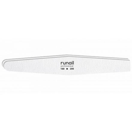 Купить RuNail, Пилка для искусственных ногтей, белая, ромб, 180/200