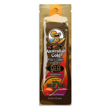 Australian Gold, Лосьон для загара Gelee Accelerator, 15 млКосметика для загара в солярии<br>Лосьон-активатор для загара в солярии с маслом семян конопли.<br><br>Объем мл: 15.00