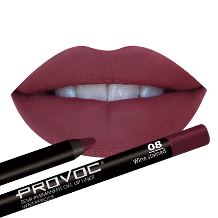 Provoc, Gel Lip Liner 08 Wine Stained, Цвет Cливовый