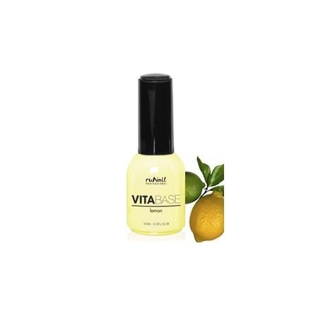 ruNail, База для гель-лака с лимоном VitaBase Lemon, 15 мл