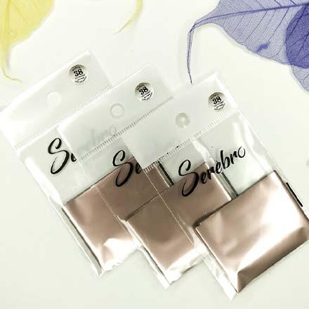 Купить Serebro, Фольга для дизайна ногтей №38, серо-розовый, матовый
