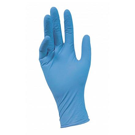 Перчатки нитриловые голубые NitriMax, размер S (100 шт)Перчатки<br>Гипоаллергенные нитриловые перчатки эффективно защищают от химических воздействий, сохраняя естественную чувствительность рукам. В наборе 50 пар.